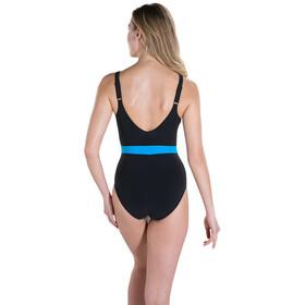 speedo CrystalGleam 1 Piece Swimsuit Damen black/oxid grey/winsdor blue